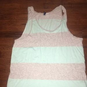 H & M tank shirt stripe size large hm